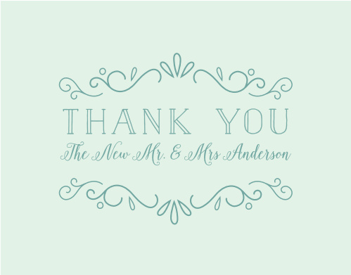 Glowing Garden Thank You Cards