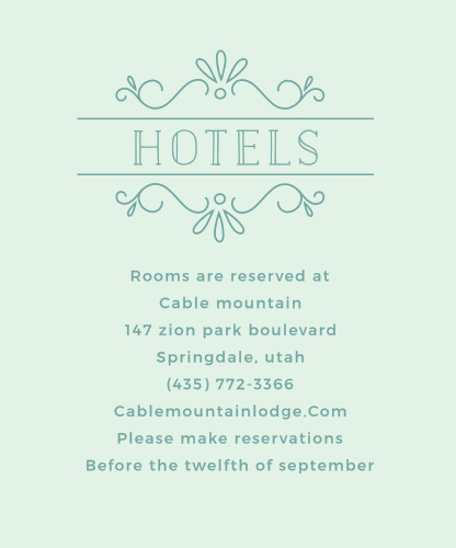 Glowing Garden Accommodation Cards
