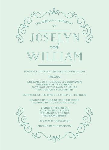 Glowing Garden Wedding Programs