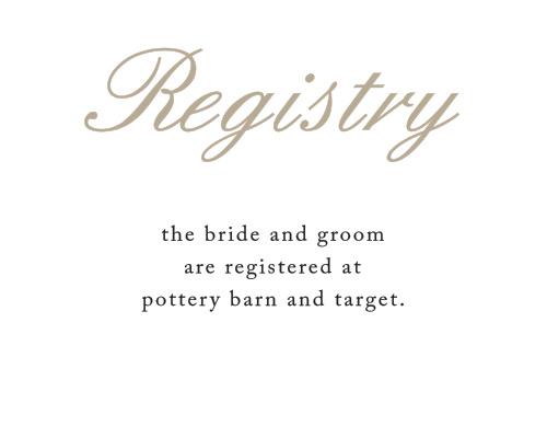 Rose Stamped Registry Cards