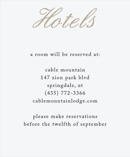 Rose Stamped Accommodation Cards
