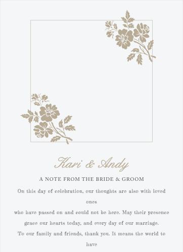 Rose Stamped Wedding Programs