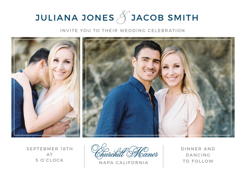 Contemporary Frame Wedding Invitations