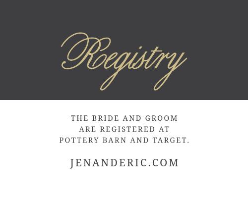 Modern Forever Registry Cards
