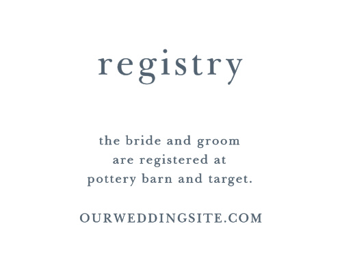 customizable wedding registry cards by basic invite