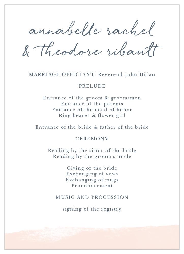 brushed frame wedding programs brushed frame wedding programs