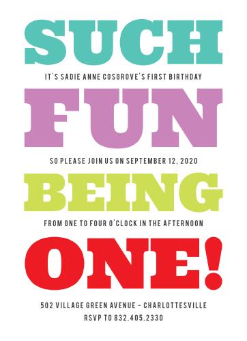 such fun first birthday invitations