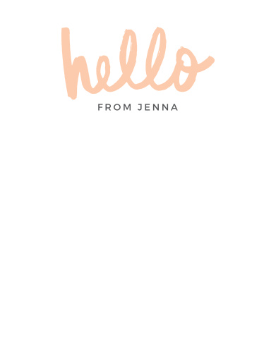 Bold Hello Business Stationery