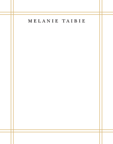 Simple Frame Foil Business Stationery