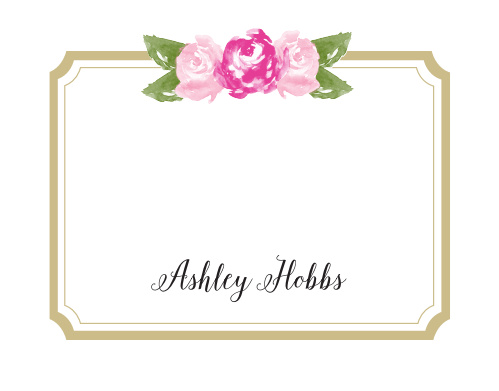 Floral Stripe Business Stationery