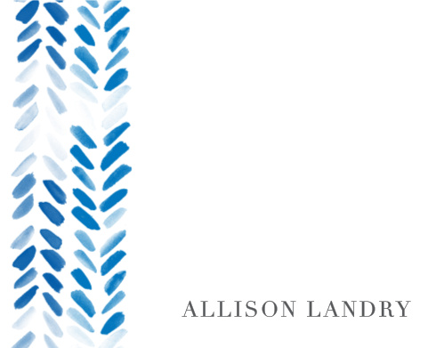 Painted Chevron Business Stationery