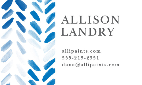 Painted Chevron Business Cards