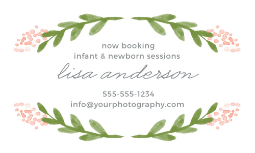 Garden Watercolors Business Cards