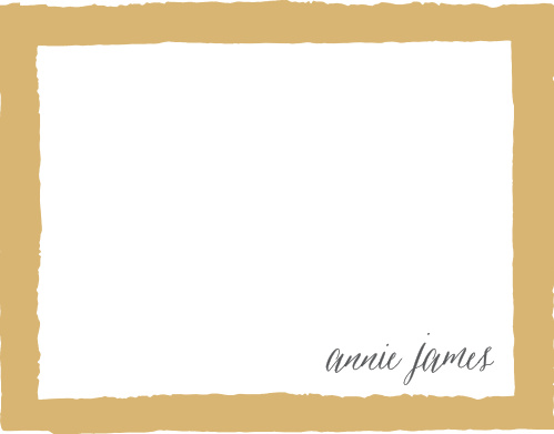 Painted Border Foil Business Stationery