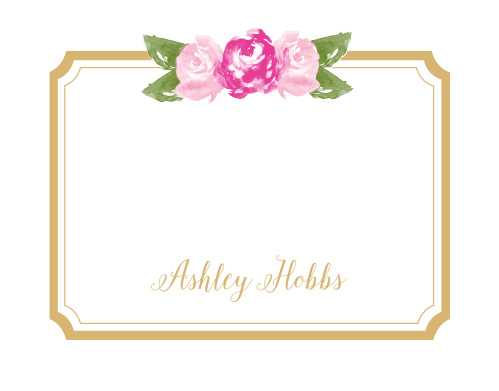 Floral Stripe Foil Business Stationery