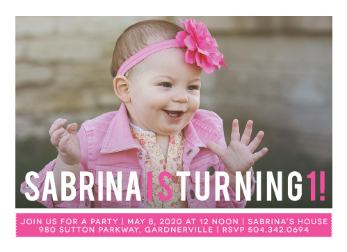 Simply Photogenic Girl First Birthday Invitations