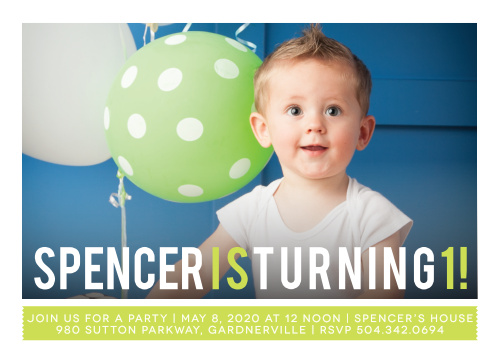Simply Photogenic Boy First Birthday Invitations