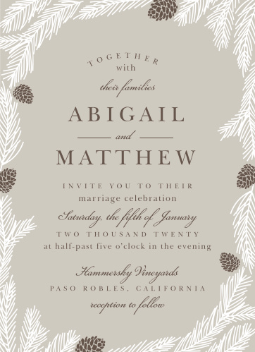 christmas wedding invitations match your color style free