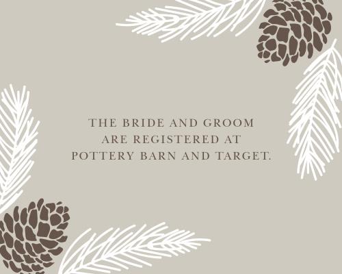 Pretty Pinecones Registry Cards