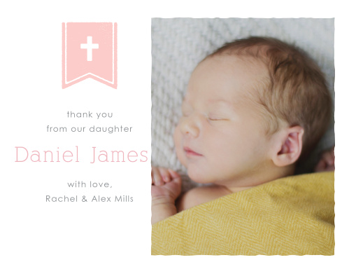 Banner and Cross Girl Thank You Cards