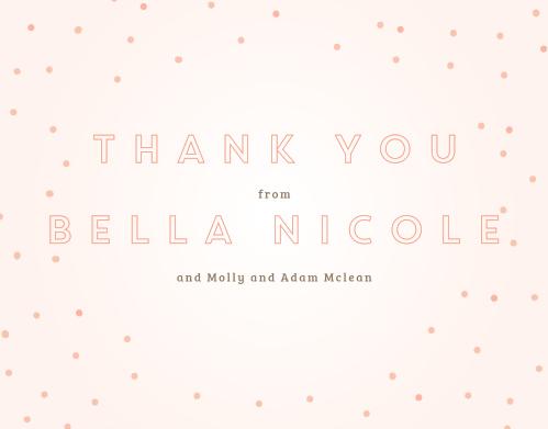 Dapper Dots Girl Thank You Cards