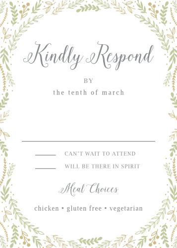 Romantic Evergreen Response Cards