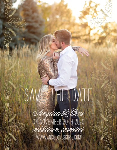 fall save the dates match your color style free