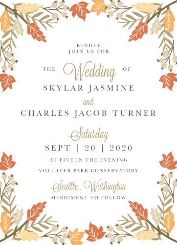 Falling Leaves Wedding Invitations