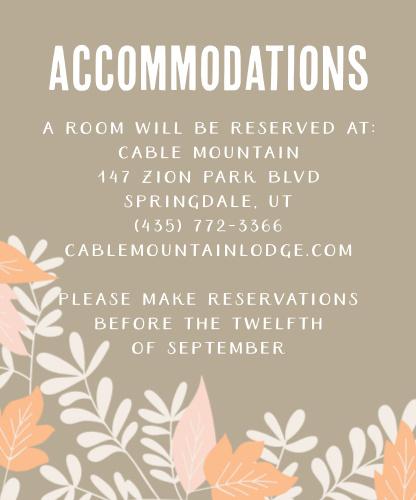 Autumn Foliage Accommodation Cards