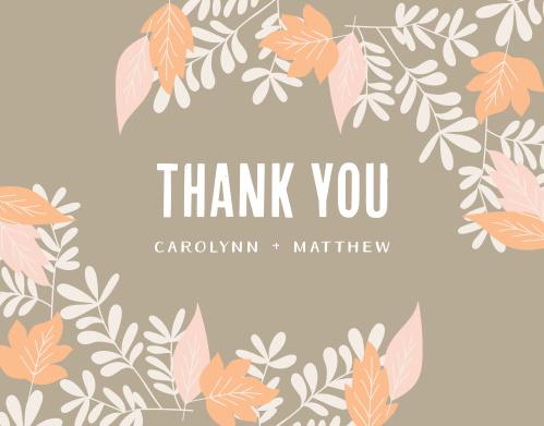 Autumn Foliage Thank You Cards