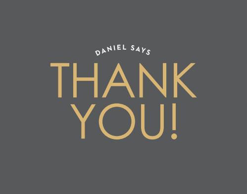 Candy Stripe Foil Thank You Cards