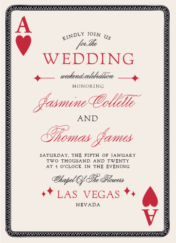 Vegas Wedding Invitations Match Your Color Style Free