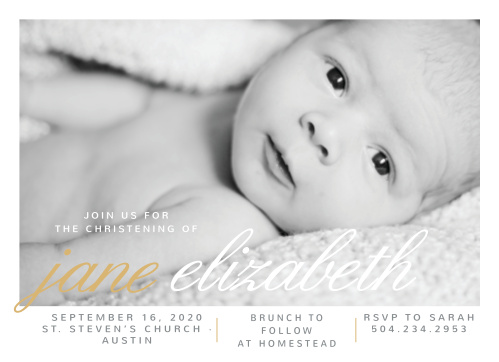 christening invitations announcements