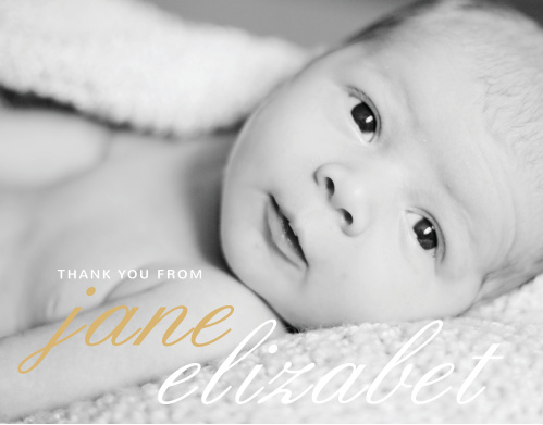 La Moderne Foil Thank You Cards