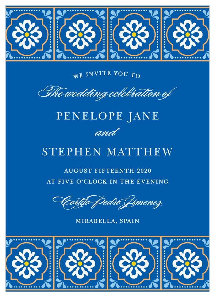 Spanish Tile Wedding Invitations By Basic Invite
