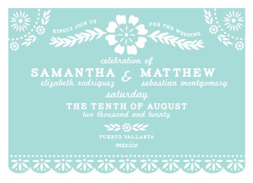 Papel Picado Wedding Invitations By Basic Invite