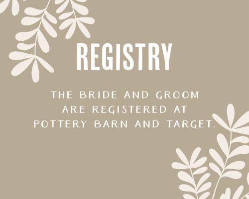 Autumn Foliage Registry Cards