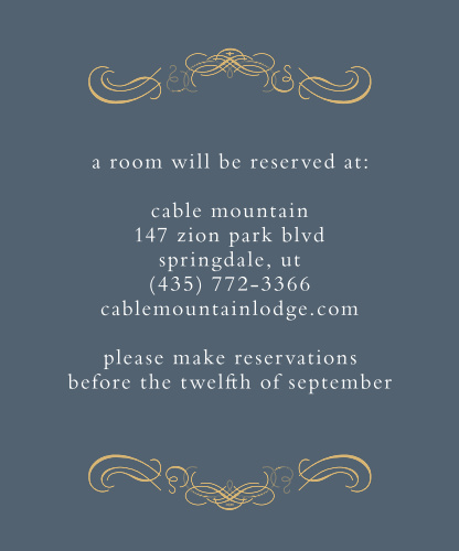 Old World Winery Foil Accommodation Cards