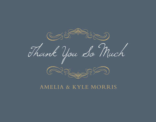 Old World Winery Foil Thank You Cards