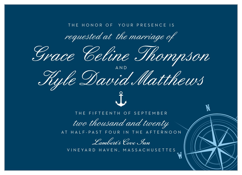 Nautical Compass Wedding Invitations By Basic Invite