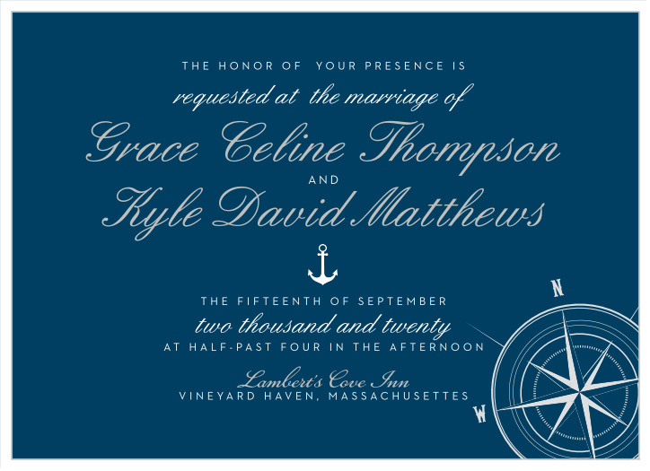 Nautical Wedding Invitations.Nautical Wedding Invitations Match Your Color Style Free