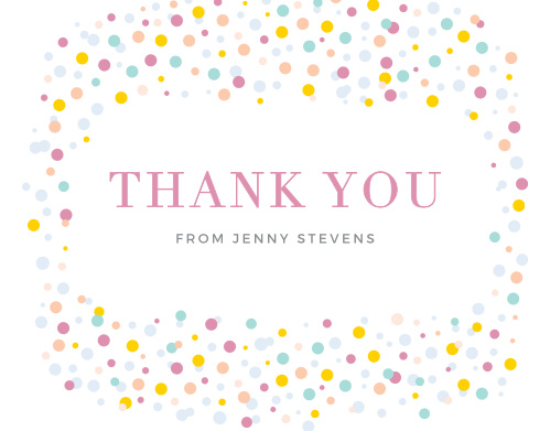 Dancing Dots Thank You Cards