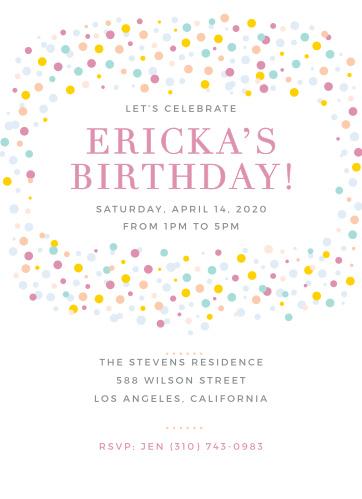 Birthday Invitations Party Invites Basic Invite Text Invitation