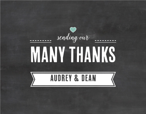 Chalkboard Writing Thank You Cards