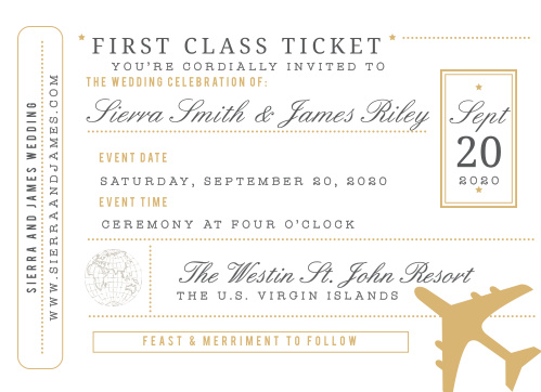 Boarding Pass Wedding Invitations Match Your Color Style Free