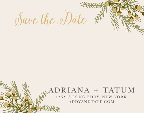 winter save the dates match your color style free