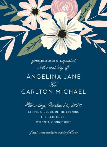 Rustic Blooms Wedding Invitations