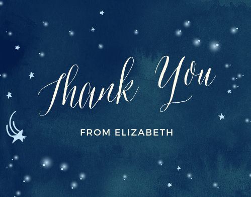 Twinkle Twinkle Baby Shower Thank You Cards