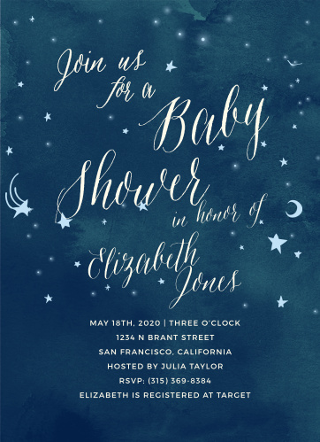 moon baby shower invitations match your color style free