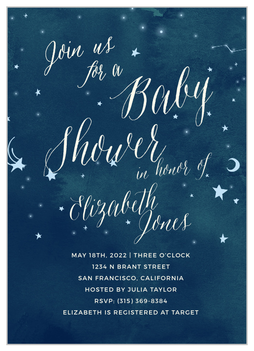 photograph relating to Free Printable Twinkle Twinkle Little Star Baby Shower Invitations named Twinkle Twinkle Minimal Star Boy or girl Shower Invites - Recreation